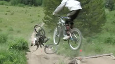 Mountain Bike Pile Up - When Groms Fall from the Sky