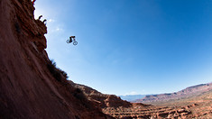 Aggy Goes Deep at Rampage with 76-Foot Drop