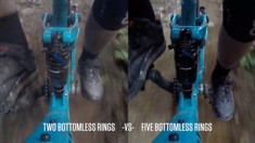 Video Comparison of RockShox Bottomless Rings in a Monarch Shock