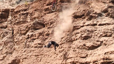 HOLY SH#T! Nicholi Rogatkin Falls off a Cliff, Then Finishes his Run at Rampage