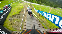 HELMET CAM - Claudio and Gwin Chainless at Leogang World Cup!