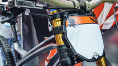 Aaron Gwin Number Board and Fresh New Signature Grips From ODI