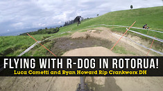 FLYING WITH R-DOG! Luca Cometti & Ryan Howard Mob the Crankworx DH in Rotorua