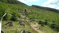 Trackside Action from the British DH National at Rhyd-y-Felin