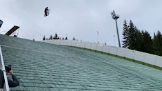 Johannes Fischbach Goes OTB Attempting World Record Jump