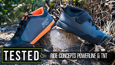 We Test the New Powerline and TNT Flat Pedal Shoes from Ride Concepts