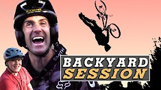 Cam McCaul Has an Epic Backyard Dirt Jump Session
