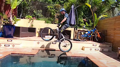 Hans Rey Rides Nine Bikes in His Home Trials Challenge