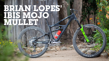 Brian Lopes' Ibis Mojo HD5 in Mullet Mode