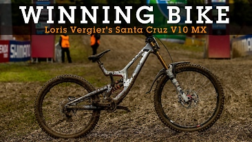 WINNING BIKE - Loris Vergier's Santa Cruz V10 MX with Prototype Shimano Derailleur