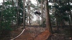 Matt Jones Builds and Rides a Huge Tree Gap