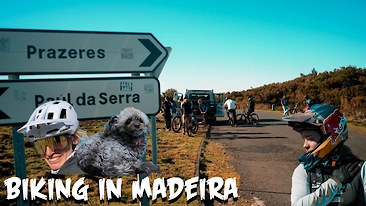 It Looks Like Vali Höll is Getting Along With Her New Bike - Madeira Vlog