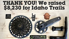 THANK YOU! With Your Help, We Raised $8,230 for Idaho Trails - SRAM GX AXS Giveaway Fundraiser