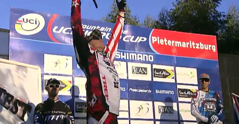 It finally happened! Gwin threw down an incredible run and walked away with his first ever World Cup win and the leaders jersey.  Congrats from Vital!