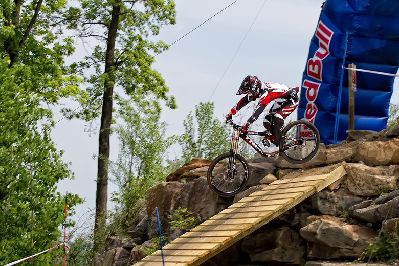 After nine years of competition, Aaron Gwin becomes the first American to win the US Open. - Photo: David Tufino