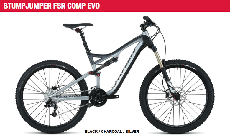 At only $2700 and under 28-pounds, the Stumpjumper FSR Comp EVO is a solid bike for those on a budget. With a Sram 2x10, 10-speed drivetrain, Fox RP-23 rear shock and RockShox Revelation RL 150 fork, this bike will get the job done and leave you with money in the bank for epic road trips.