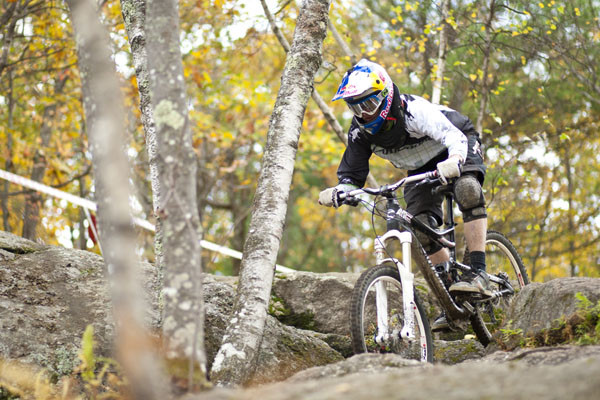 Aaron Chase knows every nook and cranny at Highland. Photo courtesy of Cannondale