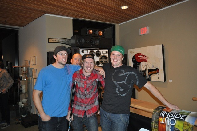 The Coastal Crew from the left: Curtis Robinson, Kyle Norbraten, and Dylan Dunkerton. These guys were so stoked all night, good to see someone so proud of their work. Excellent job guys.