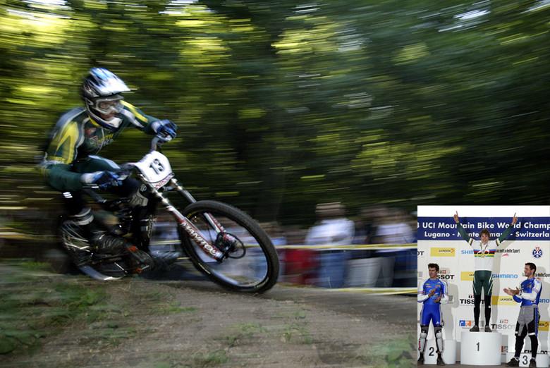 The winning run and podium. photo by Gary Perkin