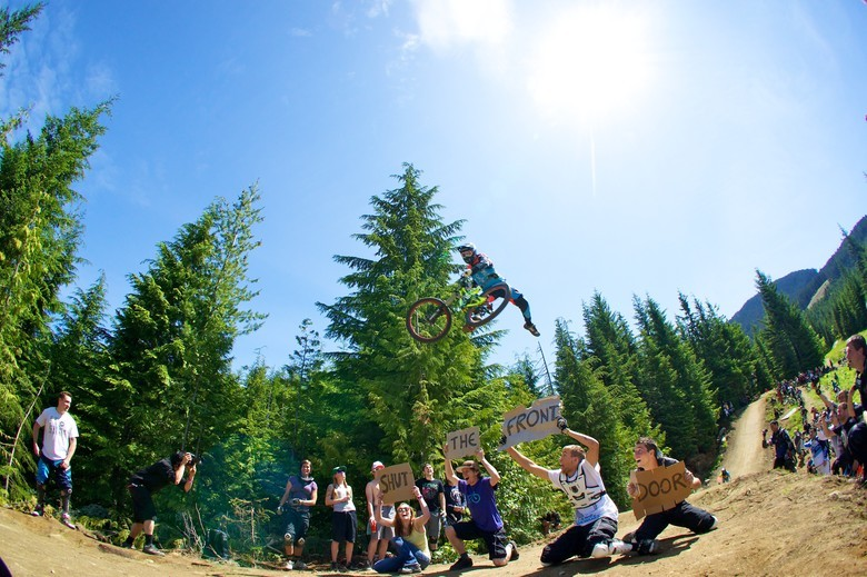 Brendog slaying it at the 2011 Vital MTB Whip Off Worlds. - Photo by Mark Harvey
