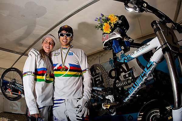 Gee and sister, Rachel, both earned World Champ stripes in 2008. photo by Sven Martin