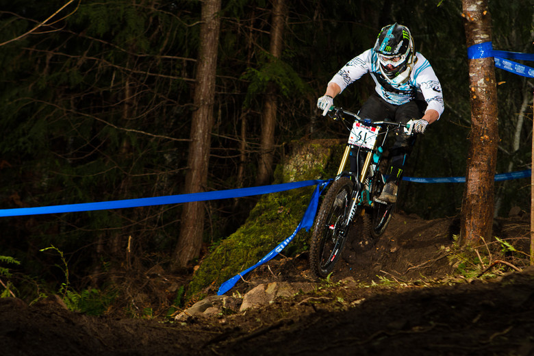 Graves raced a few DH events in 2011, including the Port Angeles ProGRT - Photo: Ki Kopkau