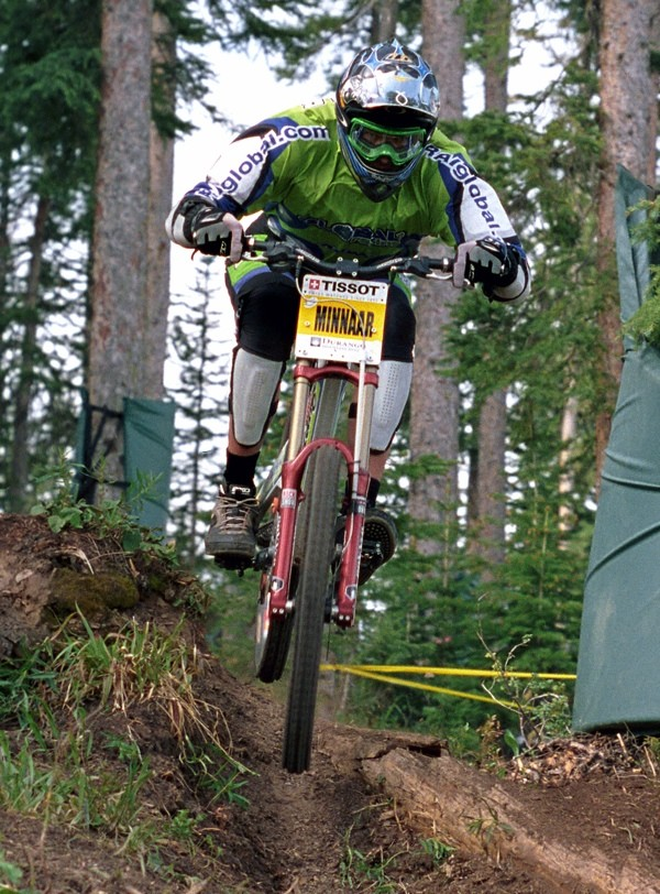 Greg Minnaar, Durango 2001. Greg was a rising star and part of Martin's talent-filled Global Racing team.