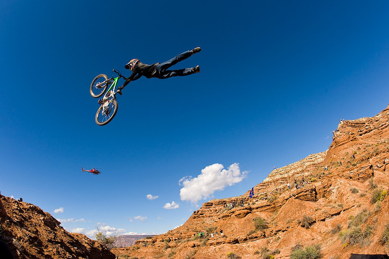 Paul looking rather comfortable at Rampage 2008. photo by Sven Martin