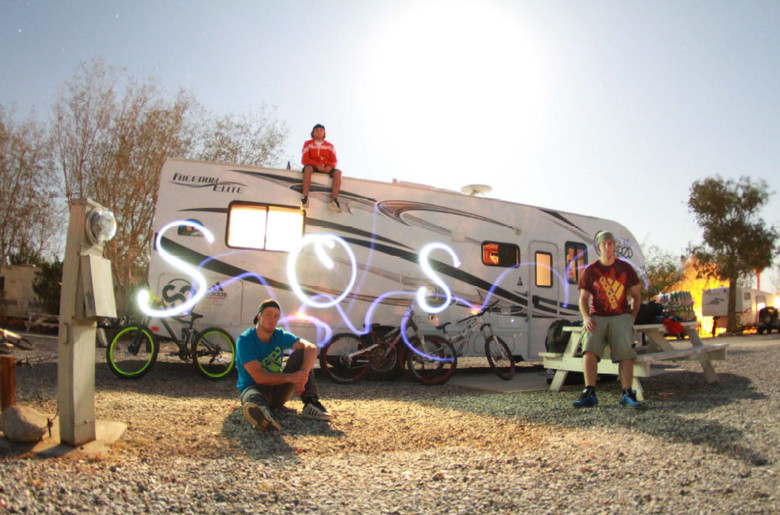 Making our home at some random RV park oustide of Ocotillo Wells
