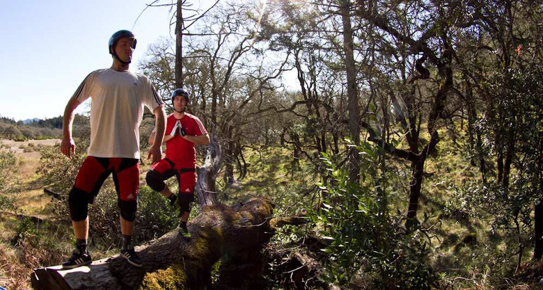 Niki and Linus getting zen on the trail in Santa Rosa.
