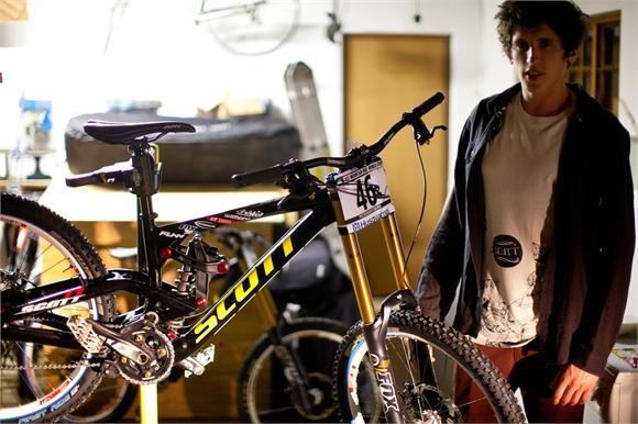 Romain Paulhan and his new bike...