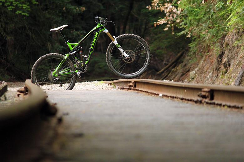 Following another amazing ride in Santa Cruz on the Slash. Photo: Brandon Turman
