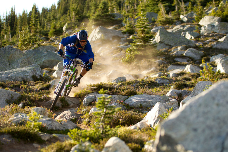 Andrew Shandro making quick work of Whistler's high country. Photo: Trek / Sterling Lorence