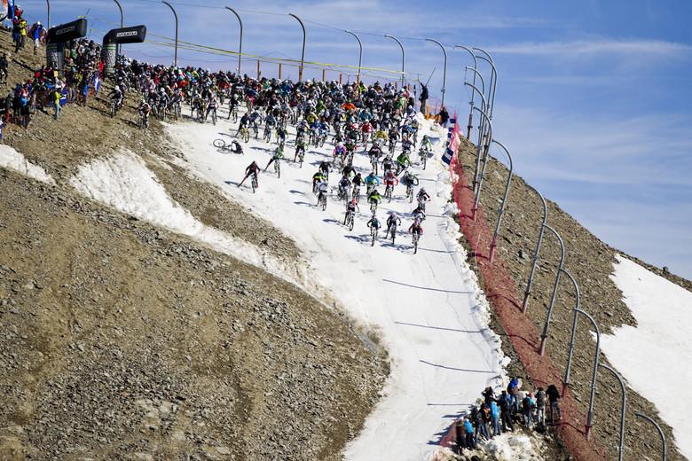 Glacier mass-start - unleashing the madness!