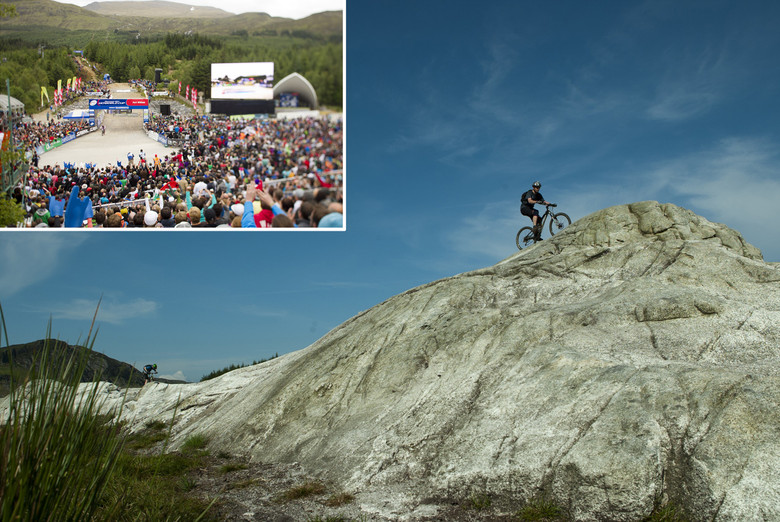 Epic trails mixed with the biggest World Cup DH of the season must mean Scotland. photo Gary Perkin