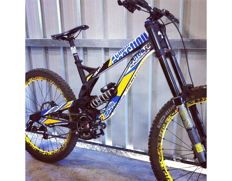 Sam posted up his new Nukeproof test bike on Instagram just a few hours ago. SOLID!