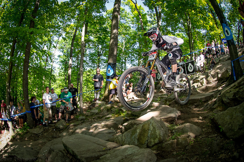 On his way to 4th place at the 2nd Pro GRT at Mountain Creek. Alex had a strong start to the season with times approaching those of the Pros.