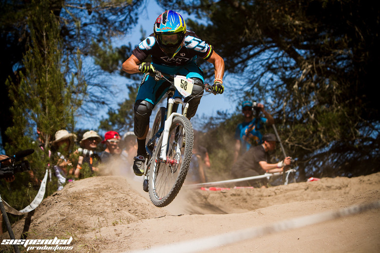 Brian Lopes at the 2013 Sea Otter Classic by Cade VanHeel