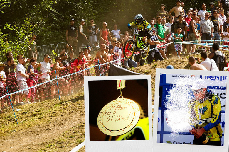 Marc Beaumont on his winning run in Val di Sole 2010. Photo by Sven Martin / Gary Perkin