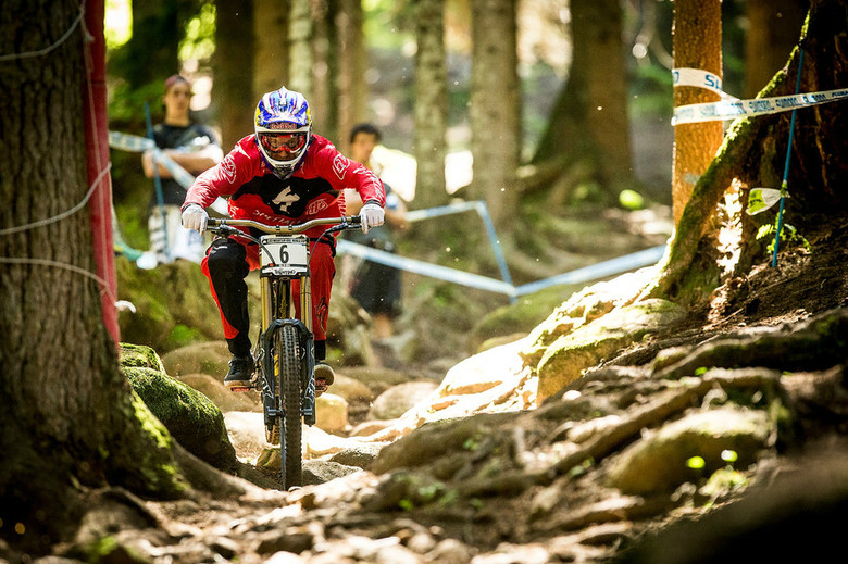 Gwin was less than two seconds off Gee's pace. Can he reel him in on Sunday? - Photo by Sven Martin
