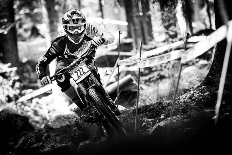 Phil Atwill charging to a top spot in the Junior Men's category. - Photo by Duncan Philpott