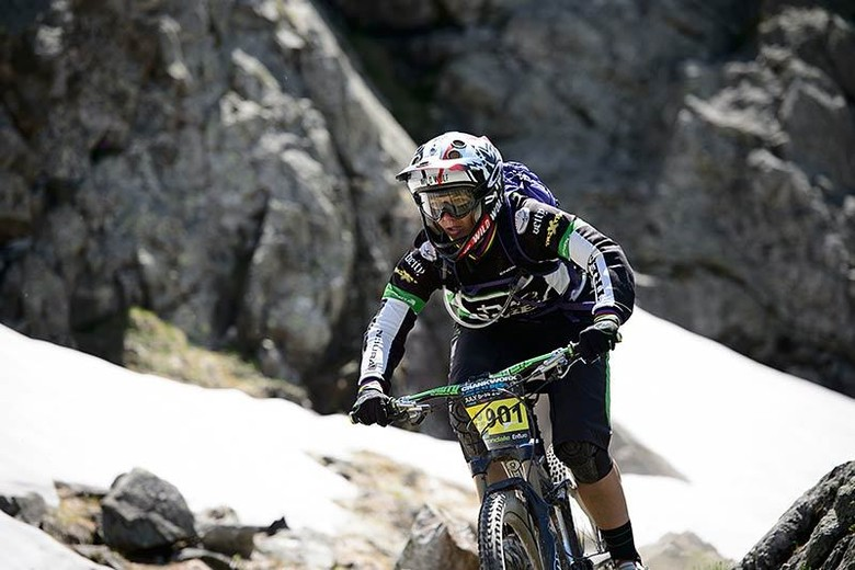 Women's series leader Tracey Mosely at Les Deux Alpes. What will Colorado bring?