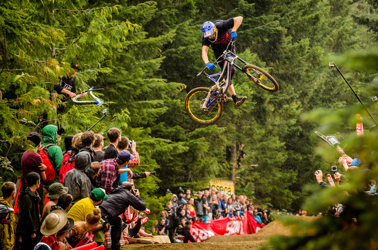 Martin laying it down thick at Whip Off Worlds 2013. Photo by Dave Trumpore / Vital MTB