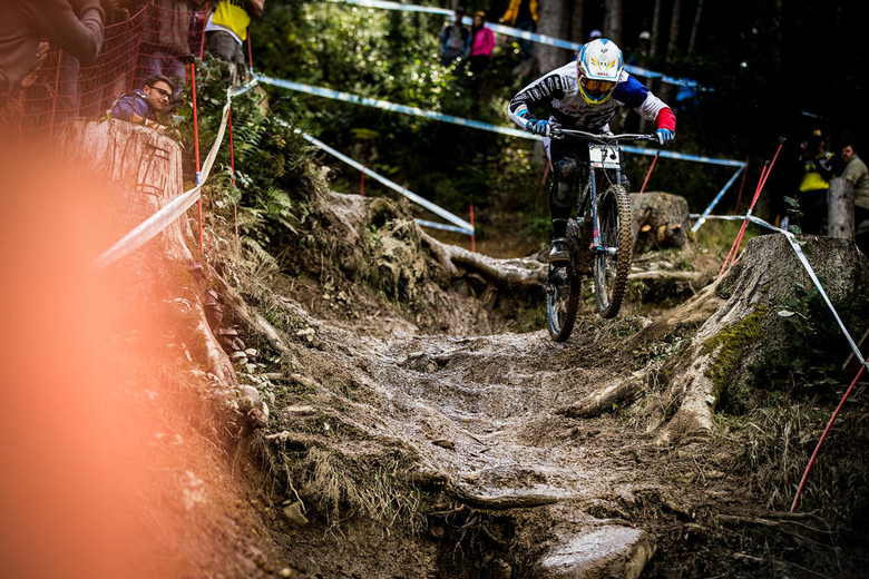 Loic Bruni on his way to second place in Leogang (Photo: Sven Martin)