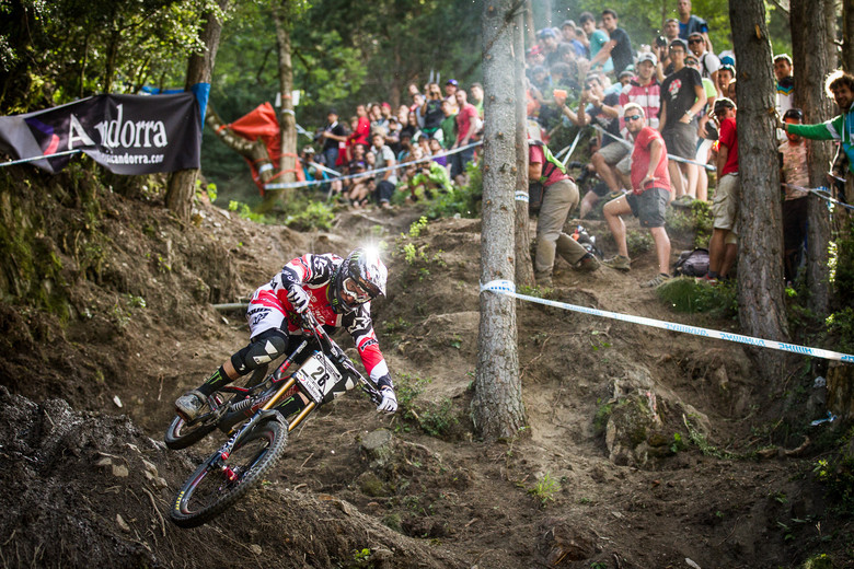 Peaty himself ripping Vallnord a new one - photo by Duncan Philpott