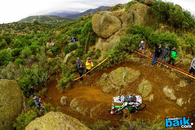 The EWS heads to Chile for 2014 - here a rider can be seen tackling the 2013 Montenbaik Enduro Sram in Las Varas