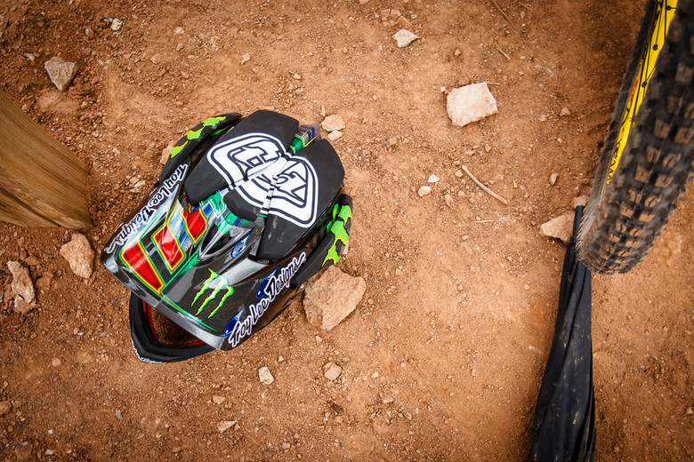 Cam Zink's prototype Troy Lee Designs D3 as seen at Rampage 2013. - Photo by Stikman // TLD