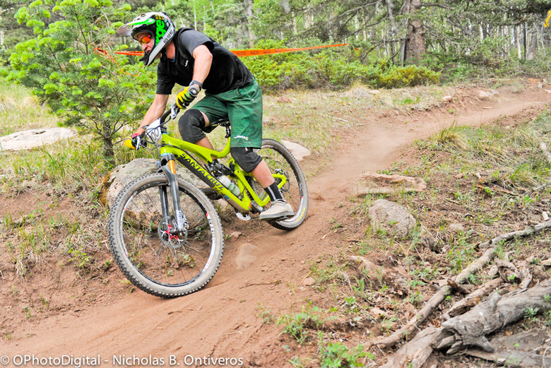 In action at the Angel Fire, NM round of the Big Mountain Enduro Series.