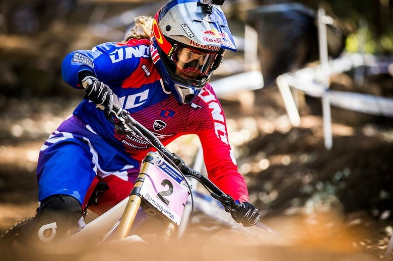 Rachel on her way to her second World Champ title in South Africa 2013 - photo by Sven Martin