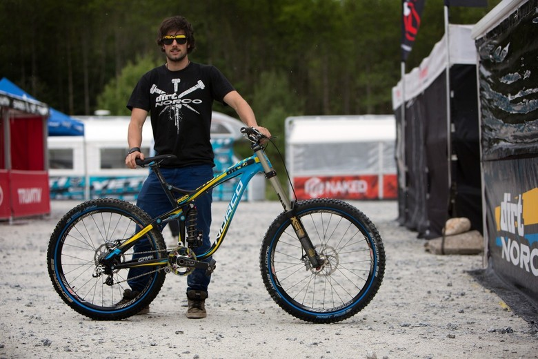 Ben Reid and his Dirt Norco DH steed. - Credit: Jacob Gibbins // Vital MTB